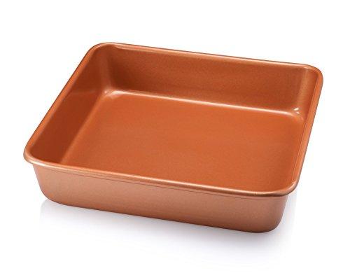 Gotham Steel 1360 Bakeware – Nonstick Copper Square Baking Tin – 9.5″ x 9.5″