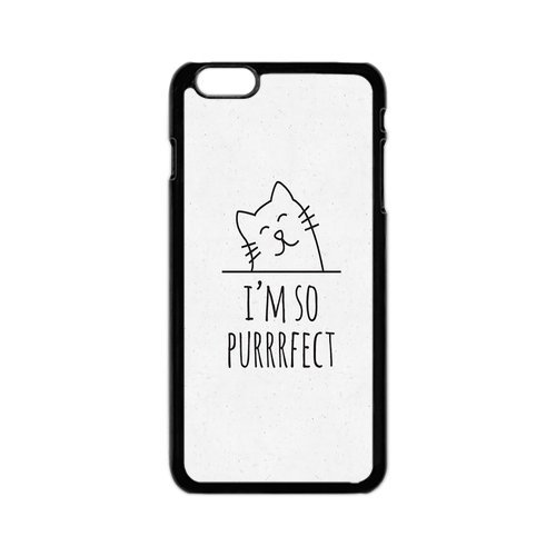 Purrrfect Cat (Personalized iPhone 6S Plus Case Cover I Am So Purrrfect Cat Cases For iPhone 6S Plus 5.5 Inch)