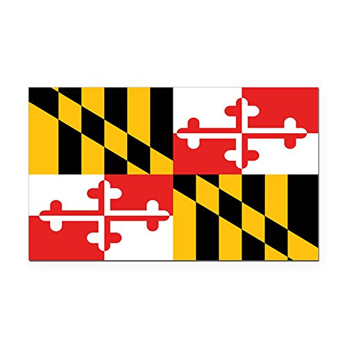CafePress - Maryland State Flag Rectangle Car Magnet - Rectangle Car Magnet, Magnetic Bumper Sticker (Rectangle Magnet Republican)