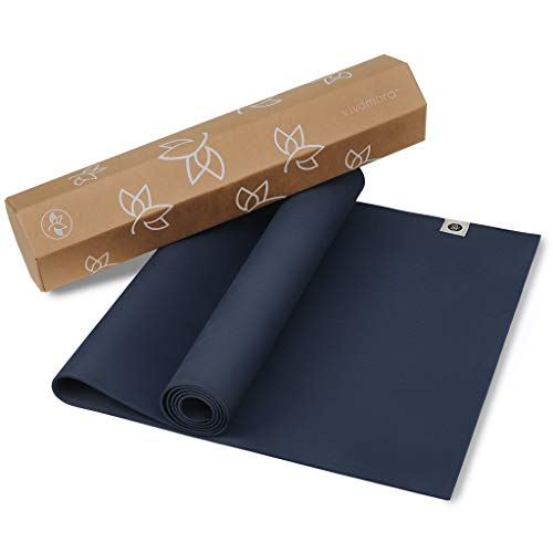 Eco Friendly Yoga Mat,  Natural Rubber , with  Non Slip Pattern  for  Meditation, Stretching, Fitness  - Multipurpose Hot Yoga, Pilates, and Exercise Mats  for  Men and Women  -  In-Home, Gym Access