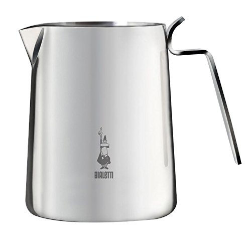 Bialetti Elegance - Stove Top Milk Foaming Pitcher - Stainless Steel - 0.5l/16.9oz