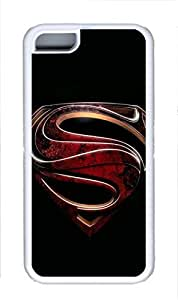 iphone 5c case,custom apple iphone 5c case, Superman logo black background diy iphone 5c case ,TPU Material,Drop Protection,Shock Absorbent,Customize your own cell phone case pattern,white case 2