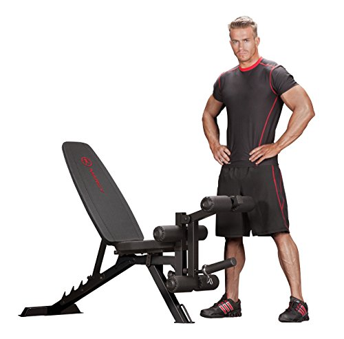Marcy Adjustable 6 Position Utility Bench with Leg Developer and High Density Foam Padding SB 350