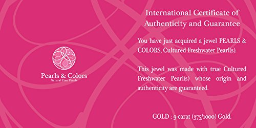 Pearls & Colors - Collier multi rangs - Or jaune 9 cts - Perle d'eau douce - 42 cm - PC-9CC17