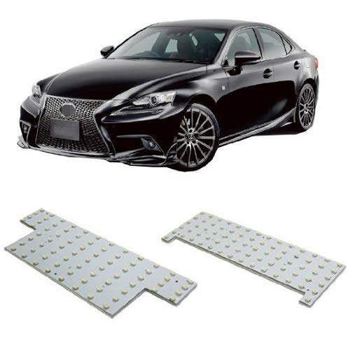 iJDMTOY 2PC 140-SMD Exact Fit LED Panels Interior Lights Package Set For 2014-up Lexus IS250 IS350