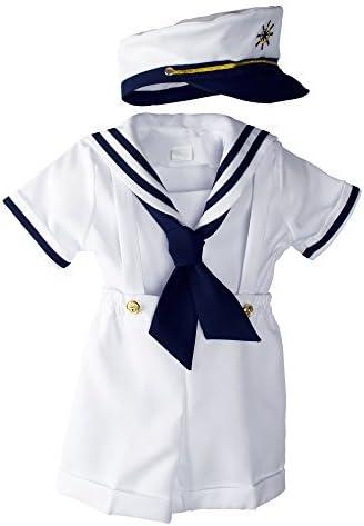 Bebé muchachos del niño Náutico negro Traje de marinero Corto Set ...