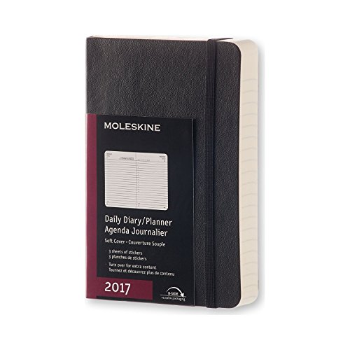 - Moleskine Classic 12 Month 2017 Daily Planner, Soft Cover, Pocket (3.5