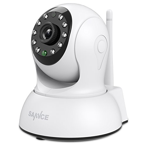 Home Security System Monitoring (SANNCE Wireless Security Camera IP 720P Home Remote Monitoring System with QR Code Scan,Two-ways Audio Talk,Build-in Mic and Speaker, Motion Detection)