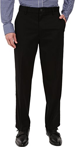 Dockers Men's Relaxed Fit Stretch Signature Khaki Pants D4, Black Stretch, 32W x 30 -