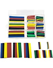 NRC&XRC 328PCS Heat Shrink Tubing 2:1Wire Cable Wrap Assortment Electric Insulation Tube Kit 5 Color 8 Size