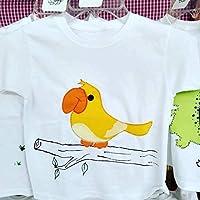 Playera con aplicación de ave