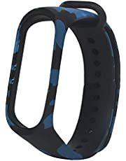 سوار بديل من خامة تي بي يو لساعة اليد الذكية شاومي مي باند 3 - بلون ازرق مموه