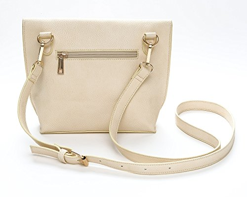 for Crossbody ASHLIE Long Front Women Purse Tassel Bone ROSE Strap vv0ASq