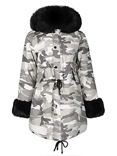 Pasrrask Mid Long Padded Coat Thick Cotton Jacket
