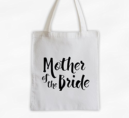 Mother of the Bride Cotton Canvas Tote Bag - Brush Script Bridal Party Attendants Gift (3001-MB) ()