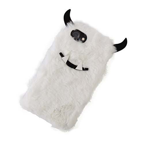 DCI Yeti Faux Fur Phone Case, Black and White, Compatible with iPhone 6, 7, 8 models ()