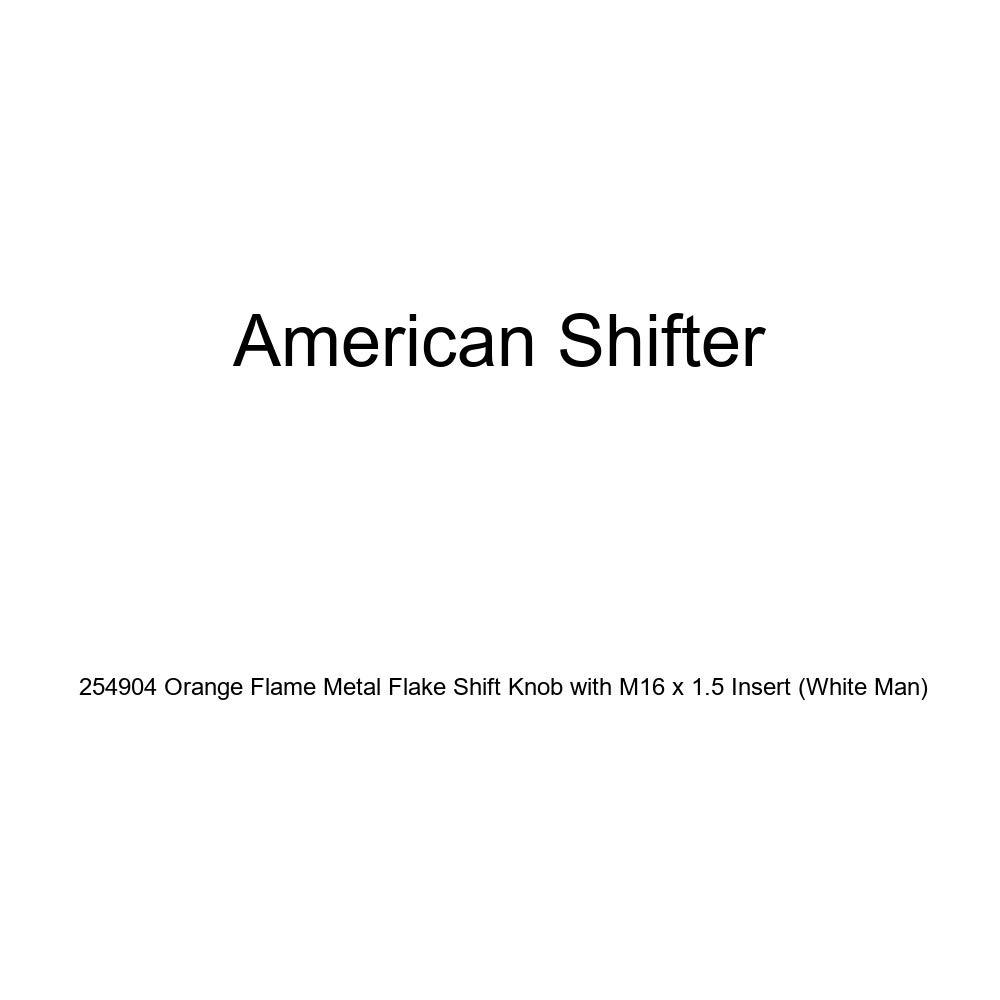 White Man American Shifter 254904 Orange Flame Metal Flake Shift Knob with M16 x 1.5 Insert