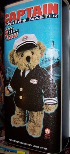 Collectible Texaco Bear 2001 Captain Tanker Master OIL Advertise Tin Bank Ad GAS Monkey Island Bear Friends from EPACKS BASEBALL CARDS