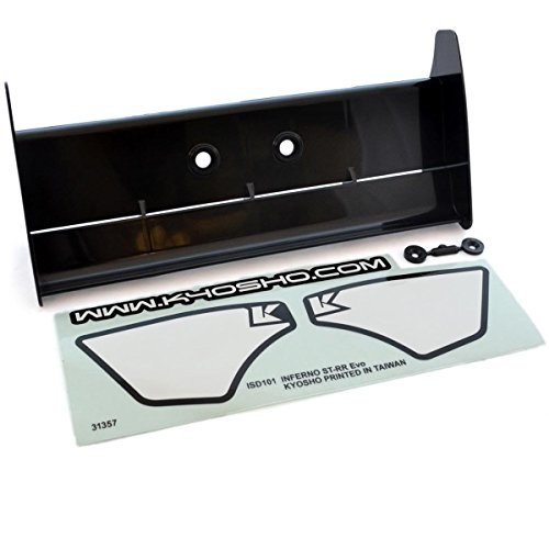 Rear Truggy Wing (Kyosho 1/8 Inferno ST-RR Evo.2 Truggy BLACK REAR WING & DECALS TKI2 TKI3 WC by Kyosho)