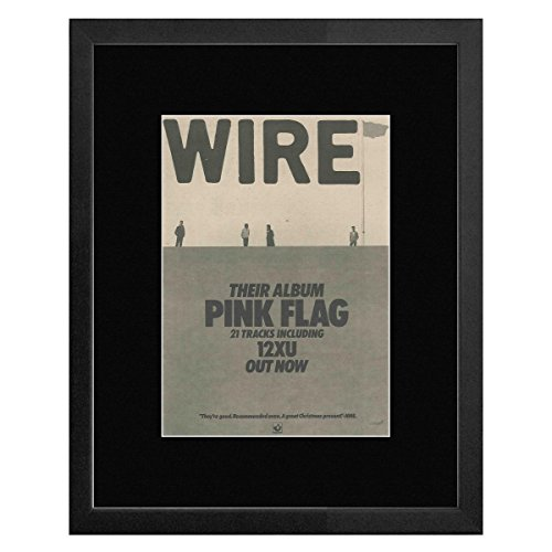 Wire - Pink Flag Framed Mini Poster
