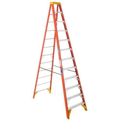 Werner 6212 300-Pound Duty Rating Type IA Fiberglass Stepladder, 12-Foot by Werner