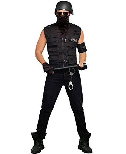 Operation Man Halloween Costume (Dreamgirl Men's Special Ops Costume, Black,)