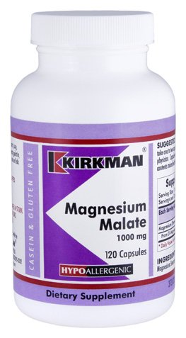 Kirkman Magnesium Malate 1000mg || 120 vegetarian capsules || Promotes relaxation and restful sleep.