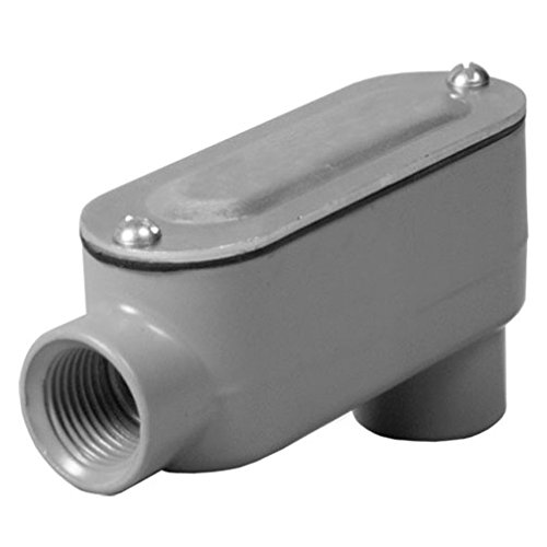 Taymac RLB150 Threaded LB Conduit Body, Die Cast Aluminum, Stamped Steel Cover, 1-1/2-Inch