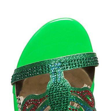 Party Sandali Da 5 Di Sera Personalizzato UK9 5 US11 Tacco Materiale Fibbia Di Glitter Nozze CN45 Estivi Strass Abito amp; Club Scarpe Donna EU43 RTRY Chunky Fx15qw8W