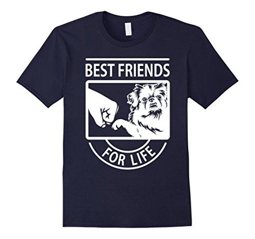 Mens Pekingese Best Friend For Life T-shirt Large Navy