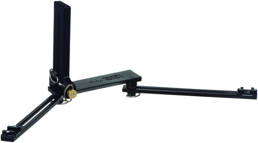 Manfrotto 330B Makro-Halterung Flash Unterst/ützung f/ür 2/Shoe Mount Flash Heads-Black