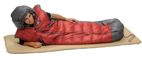 Exped DreamWalker 450 Sleeping Bag, Red/Grey, Long, Outdoor Stuffs