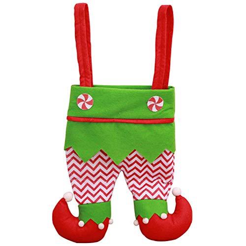 Mydufish Fairy Xmas Santa Claus Christmas Elf Pants Gift Handbag Candy Bag Stocking -