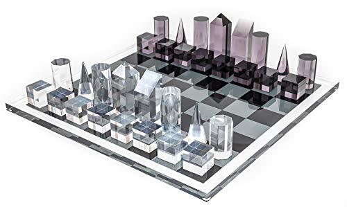 Bello Games New York's Luxury Contemporary Acrylic Chess Set