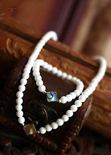 New original diamond color shell Necklace Bracelet sets minimalist natural wild jewelry ()