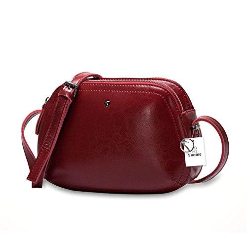 en vert Vintage main de à à à véritable bandoulière Yoome femmes Boho bandoulière Sac cuir sac de en rouge sac peau vachette FCaRwp4qx