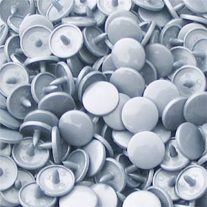 Gloss Kam Snaps Size 20 B13 Silver 100 Sets
