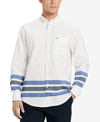 Tommy Hilfiger Men's Custom-Fit Chambray Shirt, (XX-Large) Denim
