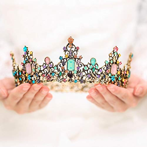 Yean Vintage Bride Wedding Crowns and Tiaras Rhinestones Bridal Queen Crowns for Women and Girls