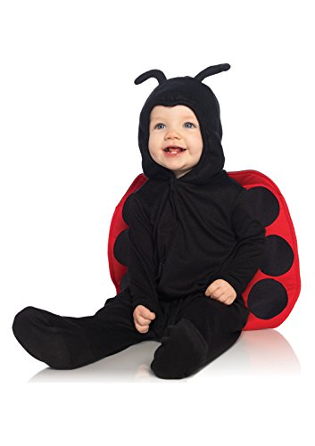 Anne Geddes Clothes For Babies (Leg Avenue Anne Geddes Baby Ladybug Ultra Soft Hooded Pajama with Stuffed Body Antennae, Black/Red,)