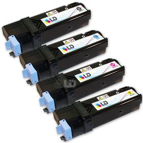 Compatible Xerox Toner Phaser (LD Compatible Xerox Phaser 6130 / 6130N Set of 4 High Yield Laser Toner Cartridges: 1 Black 106R01281, 1 Cyan 106R01278, 1 Magenta 106R01279, 1 Yellow 106R01280)
