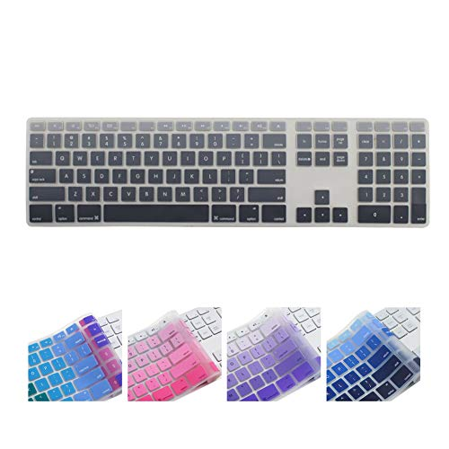 All-inside Ombre Grey Keyboard Cover for iMac Wired USB Keyboard