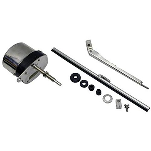 Deluxe Stainless 12 Volt Electric Windshield Wiper Motor Kit