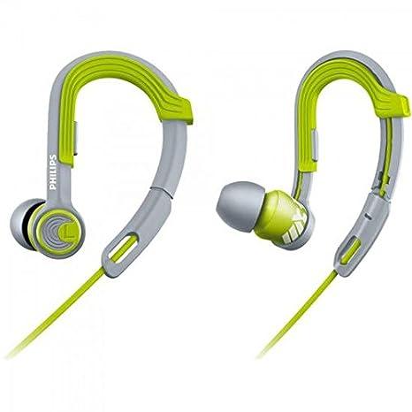 Philips SHQ3300LF ActionFit - Auriculares deportivos (gancho ajustable, aislamiento de sonido), verde/gris: Amazon.es: Electrónica