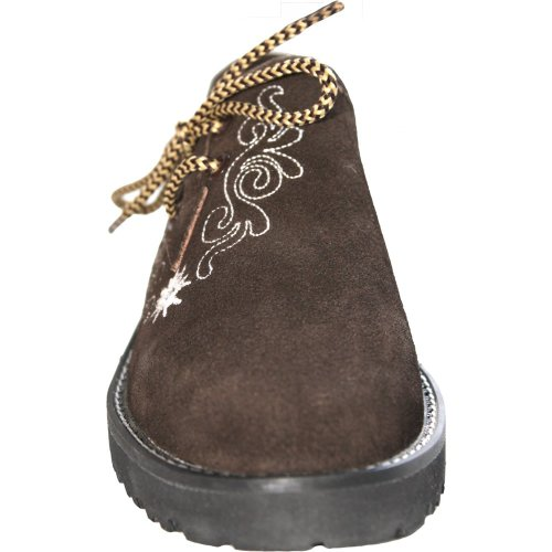 For Costume German Trachtenschuhe Haferlschuhe Wear Women's Leather 1553669 Dark Brown wqwX6fH