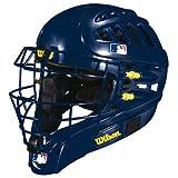 Wilson Silver Series Shock FX 2.0 Baseball Catcher's Helmet (Navy/Large-X-Large, 7-7 5/8)