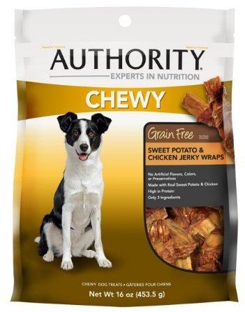 Authority Chewy Wrap Dog Treat, Sweet Potato & Chicken, 16oz