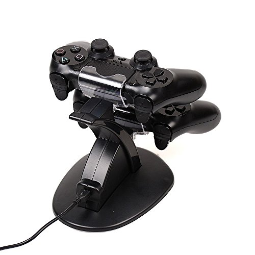 Zettaguard 1792718  Dual Charging Station Charger for PS4 Controller