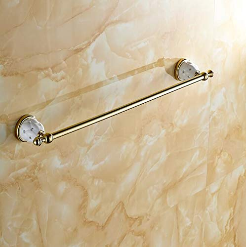 LOVELY (50Cm) Singletowel Bar Towel Holder Solid Brass Made Gold Finished Bath Products Bathroom Accessories