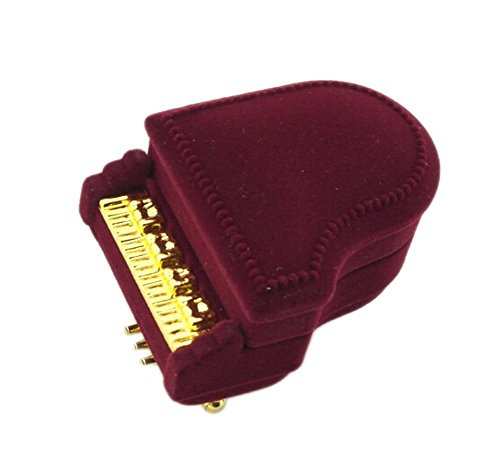 - Mallofusa New Piano Wedding Ring Box Earring Pendant Jewelry Treasure Gift Case